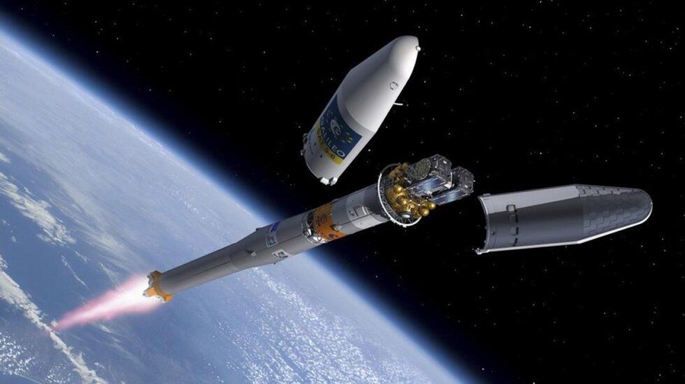 Recreación de un satélite en funcionamiento del sistema Galileo.