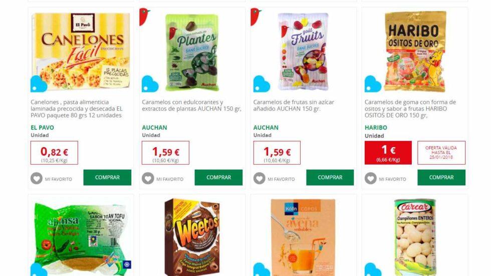 Selección de productos La Vida Azul de Alcampo.
