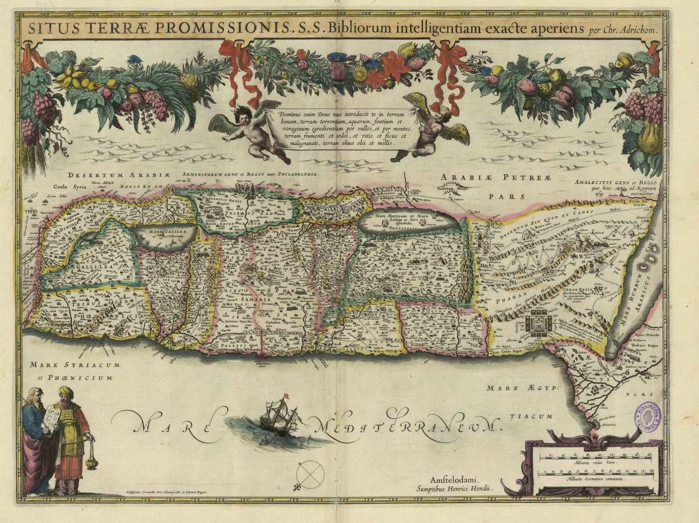 La Tierra de Promisión o Tierra Prometida en Atlas ou representation du Monde Vniversel; Gerard Mercator, BNE, 1633