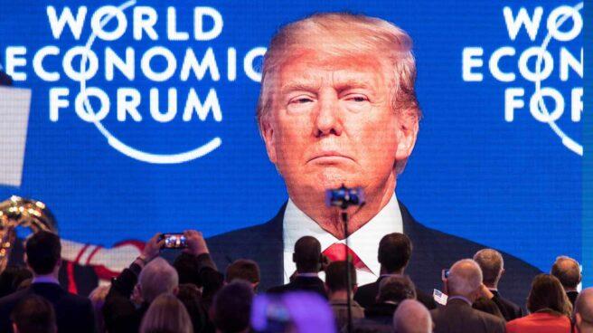 Donald Trump, durante su intervención en el Foro Económico Mundial de Davos, el viernes 26 de enero.