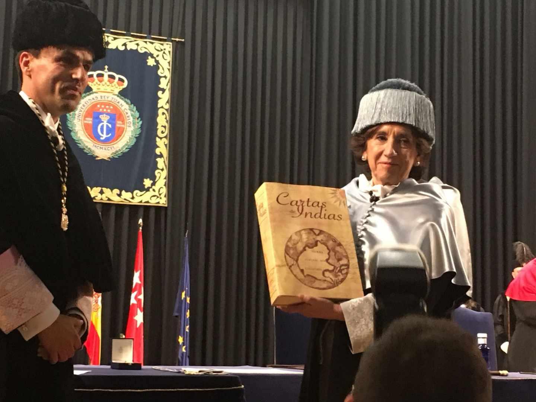 Victoria Prego, durante el acto en la Universidad Rey Juan Carlos.