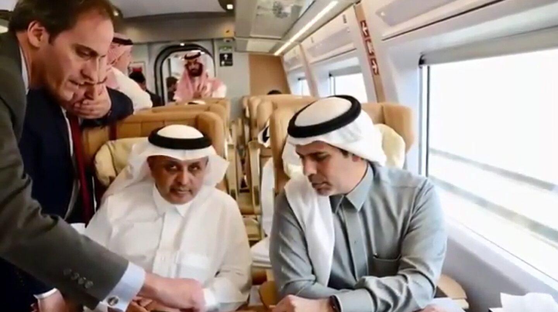 Captura del vídeo promocional del AVE a La Meca lanzado por el Gobierno saudí a finales de septiembre.