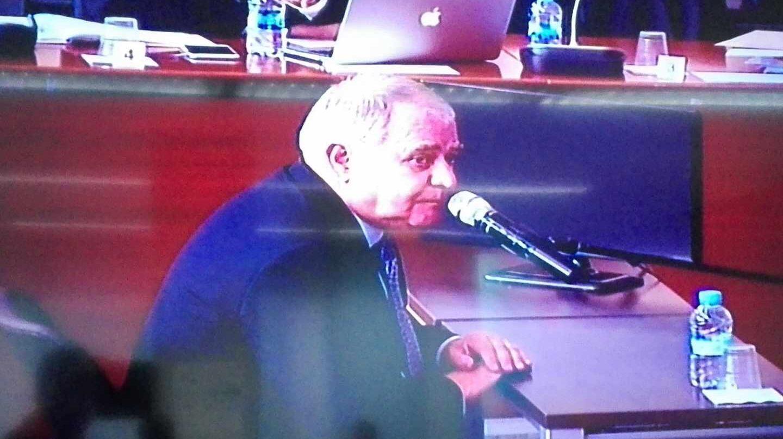 El ex tesorero de CDC Andreu Viloca, durante su declaración en el juicio del 'caso Palau'.