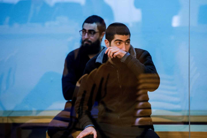 Uno de los acusados de yihadismo, durante la vista del juicio en la Audiencia Nacional.
