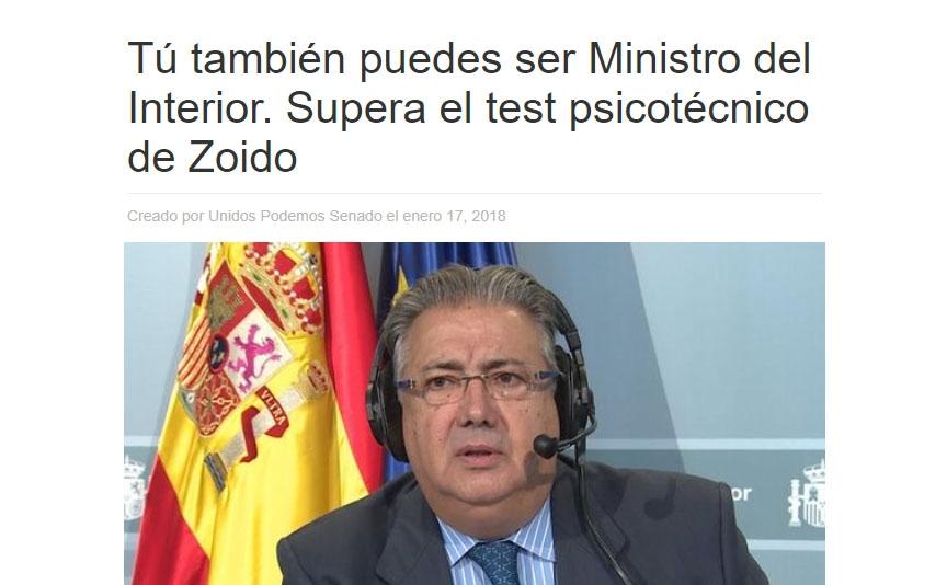 Imagen de la web creada por Podemos.