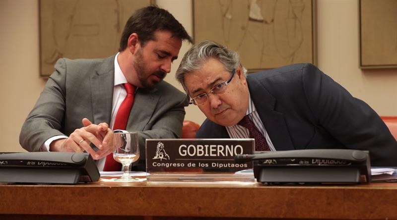 Juan Ignacio, durante su comparecencia en la comisión de Interior del Congreso este jueves.