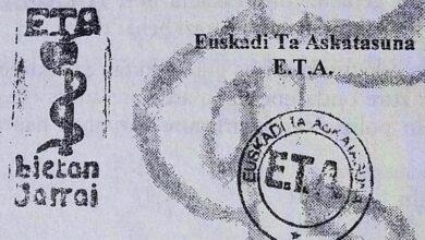 ETA: 400 casos sin resolver y 650 sentencias sin culpables
