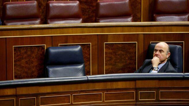 Luis de Guindos, ayer en el Congreso