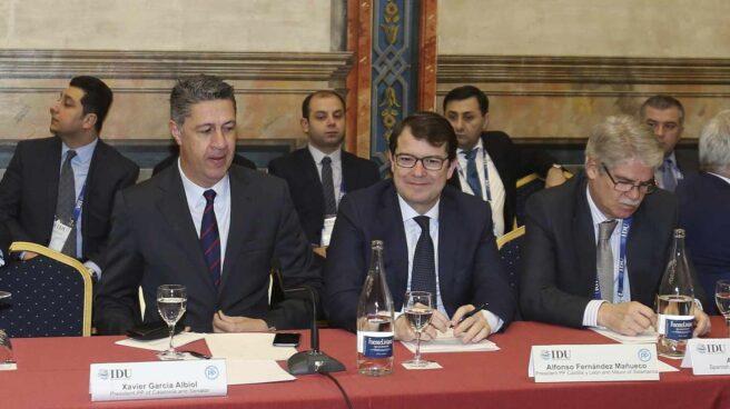 La cumbre de la IDu ha arrancado este lunes en Salamanca con la asistencia de Albiol, Fernández Mañueco y Dastis