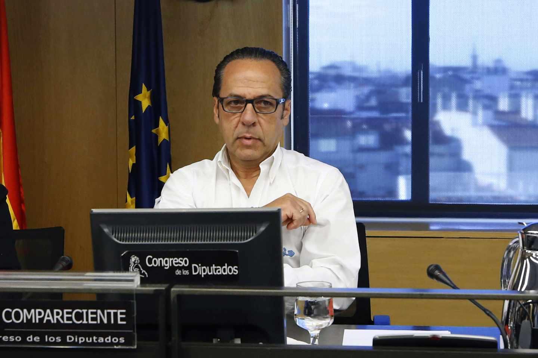 Álvaro Pérez ,'El Bigotes', en el Congreso de los Diputados.