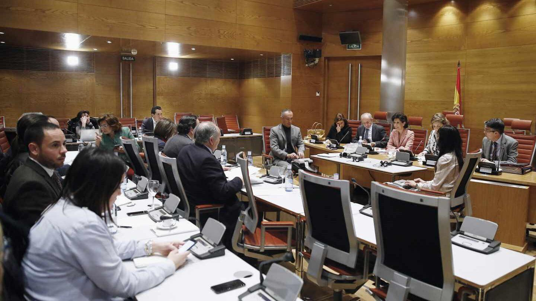 Imagen de la comisión de financiación de partidos del Senado