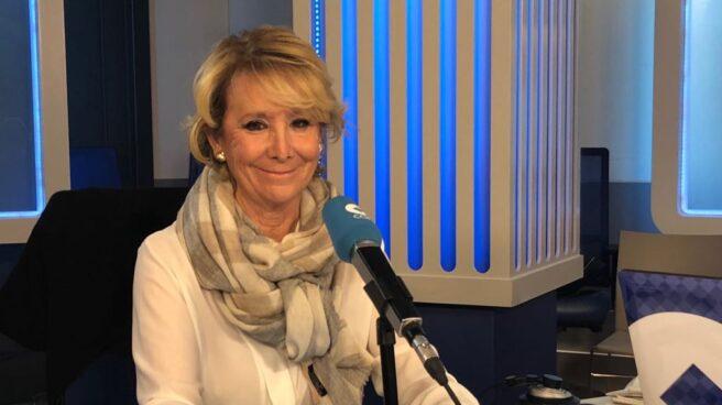 Esperanza Aguirre,en la cadena Cope.