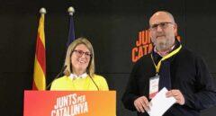 Los diputados de JxCat Elsa Artadiy Eduard Pujol.