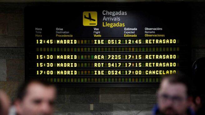 Retrasos y cancelaciones en el aeropuerto de Barajas.