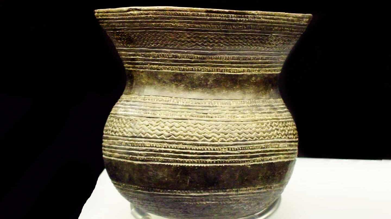 Vaso campaneiforme en el Museo Arqueológico Nacional.