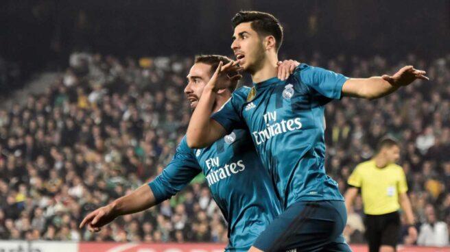 Carvajal y Asensio, en un partido de Liga del Real Madrid.