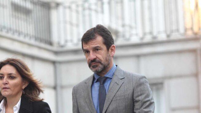 Ferran López, jefe de los Mossos, llega al Tribunal Supremo.