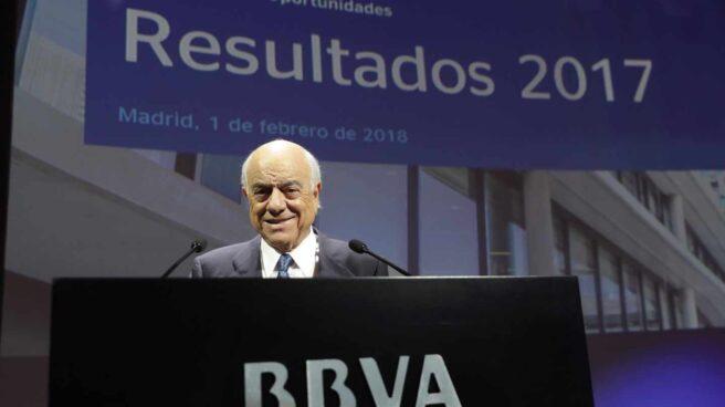 El presidente del banco BBVA Francisco González,