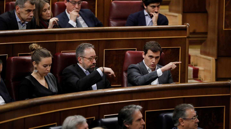 El presidente de Ciudadanos, Albert Rivera, durante la sesión de control al Gobierno en el Congreso de los Diputados.