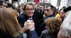 Artur Mas, a la salida del Tribunal Supremo.