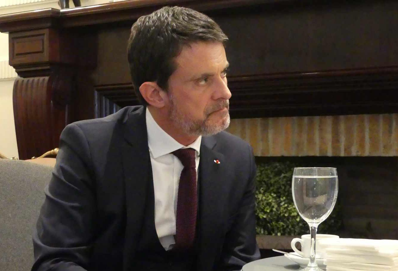 El ex primer ministro de Francia, Manuel Valls.