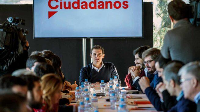 Albert Rivera preside la Ejecutiva de Ciudadanos en Toledo.