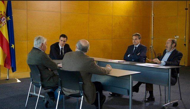 Pedro Sánchez, reunido con González, Zapatero, Rubalcaba y Almunia.