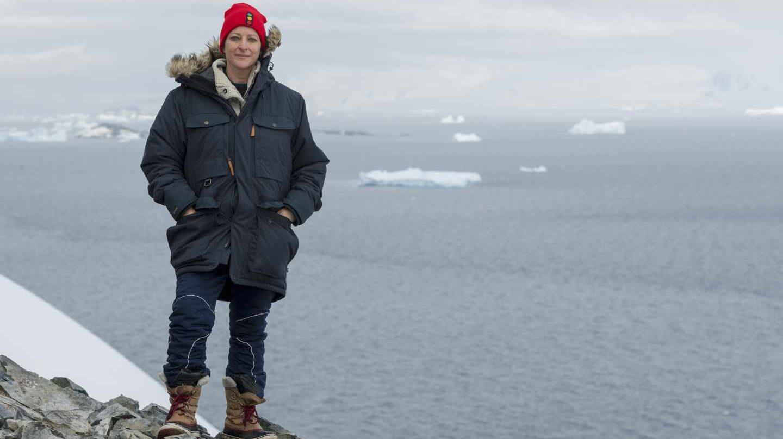 Susanne Lockhart en la Antártida.
