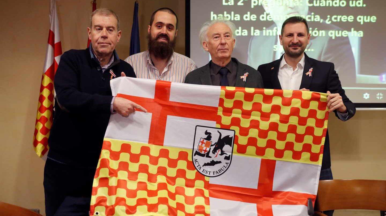 Presentación de Tabarnia: Tomás Guasch, Jaume Vives, Albert Boadella y Miguel Martínez, de izqda. a dcha.
