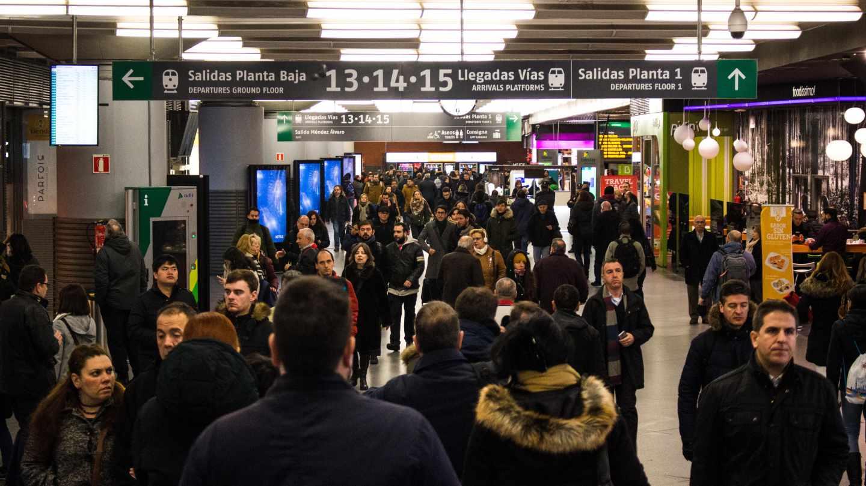 Un pasillo de la estación de Atocha