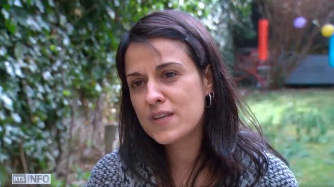 Anna Gabriel, en una entrevista concedida a RTS.