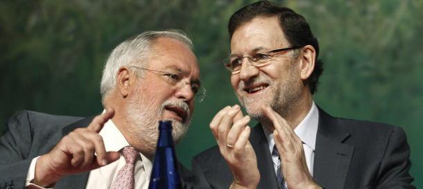 Mariano Rajoy con Miguel Arias Cañete