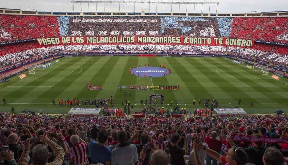 Despedida del Vicente Calderón en Liga, en mayo de 2017.