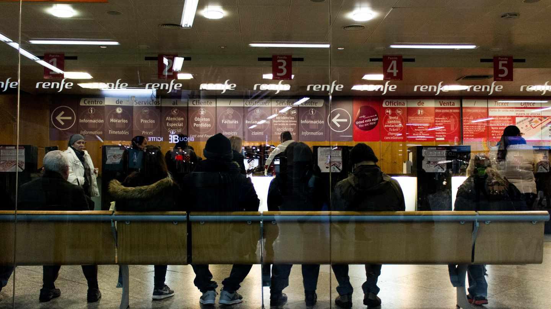 Sala de espera de la estación de Atocha