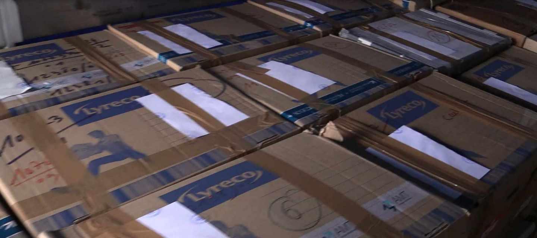 Cajas con material incautado a ETA y que forma parte del archivo entregado por Francia a España.