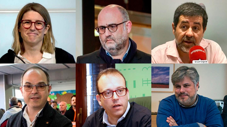 Elsa Artadi, Eduard Pujol, Jordi Sànchez, Jordi Turull, Marc Solsona y Albert Batet