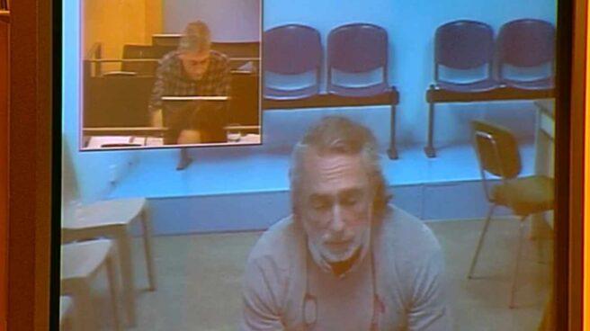 Francisco Correa declara desde la cárcel de Valdemoro por videoconferencia en el Congreso de los Diputados.