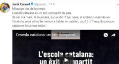El mensaje de Cuixart en Twitter.