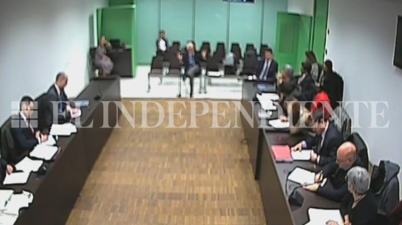 El ex senador de ERC, Santiago Vidal, durante un momento de la declaración.