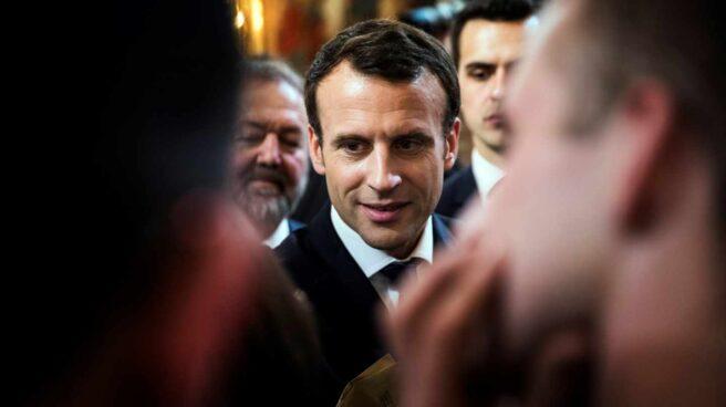 El presidente de Francia, Emmanuel Macron, durante un encuentro con empresarios.