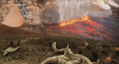 Recreción del vulcanismo durante la extinción de los dinosaurios