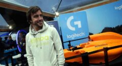 Fernando Alonso, en el Mobile World Congress.