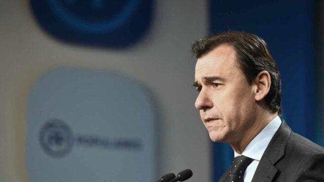 El número tres del PP, Fernando Martínez Maillo, este lunes en la sede del partido.