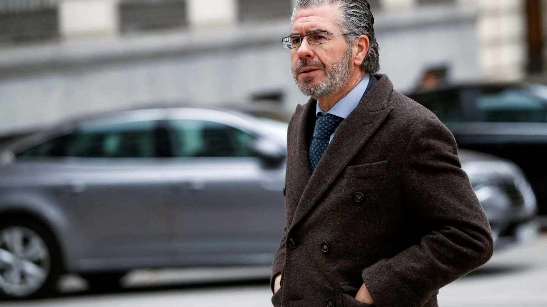 El ex consejero madrileño Francisco Granados, a su llegada a la sede de la Audiencia Nacional.