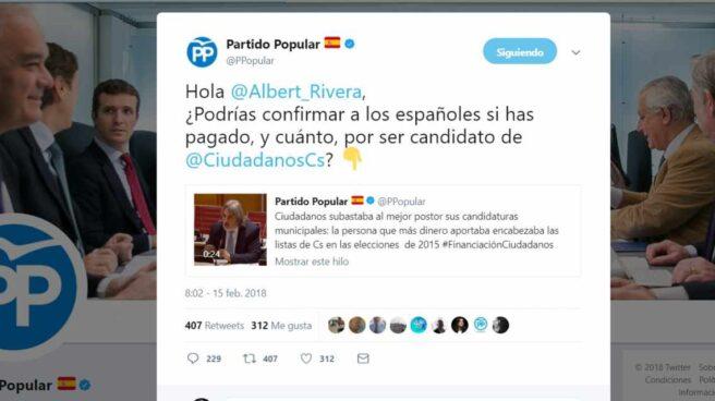 La guerra entre el PP y Ciudadanos se traslada a las redes sociales.
