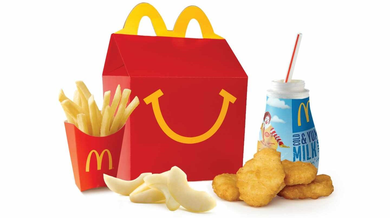 McDonalds anuncia que sus happy meals serán más saludables.