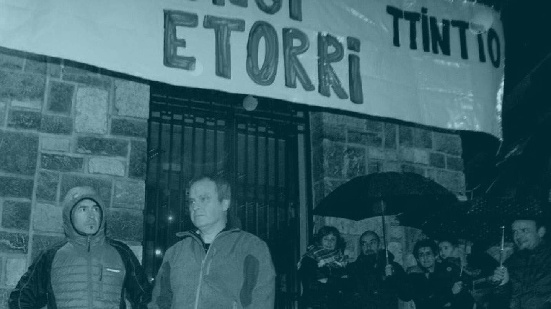 Homenaje celebrado en Andoain (Guipúzcoa) a los dos etarras condenados por dar información a ETA para el asesinato de Joxeba Pagazaurtundua.