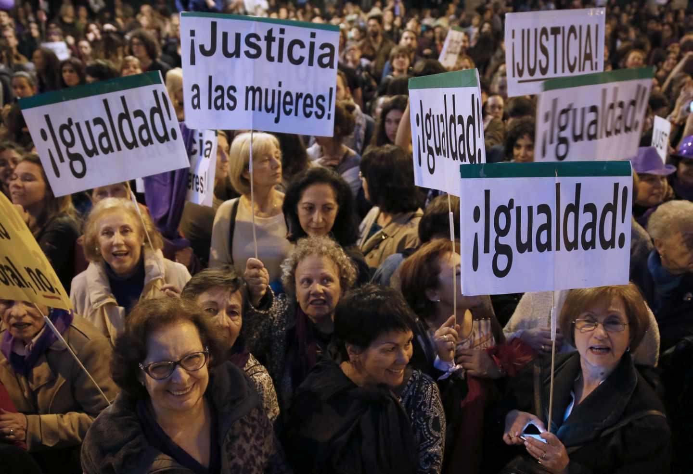 Manifestación a favor de la igualdad