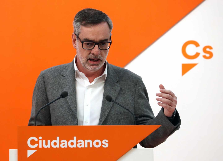 José Manuel Villegas, secretario general de Ciudadanos, tras la reunión de la Ejecutiva.