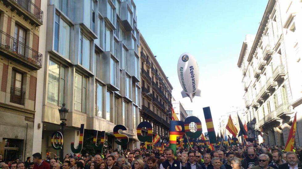 Manifestación en Madrid en demanda de la equiparación salarial de las fuerzas y cuerpos de seguridad del Estado.